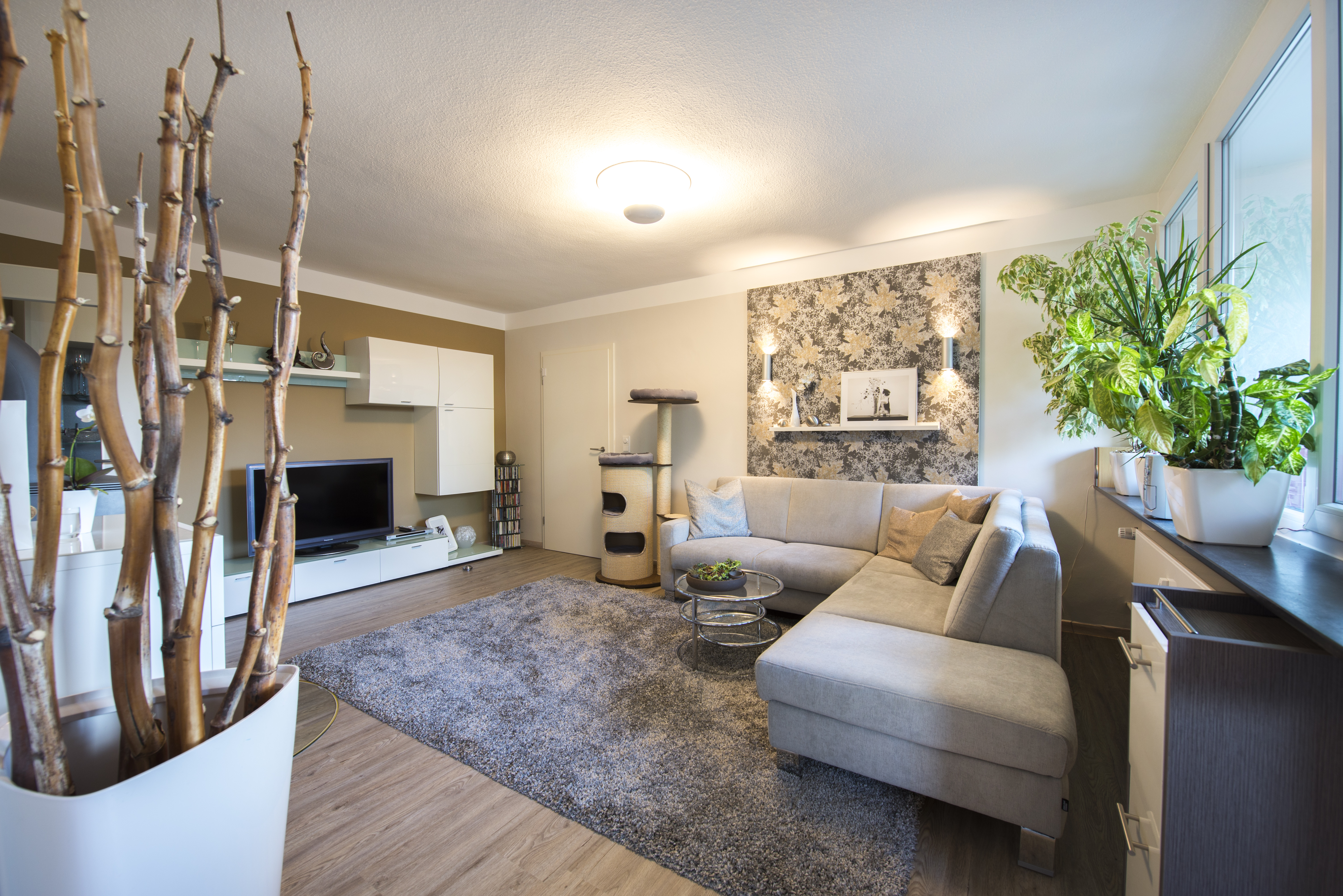 Wohnzimmer In Naturtonen Einrichtungsplanung Und Raumgestaltung