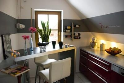 Deko ideen wandgestaltung küche  tolle wandgestaltung mit farbe 100 wand streichen ideen im ganzen ...