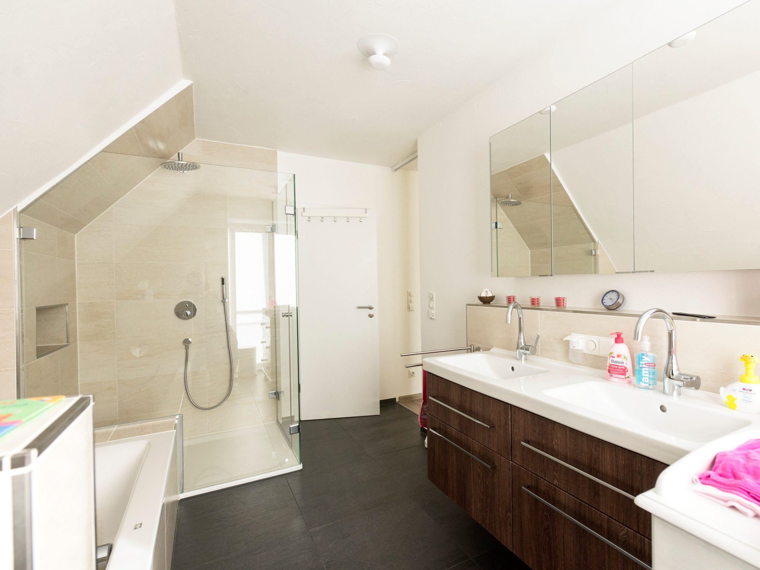 Badezimmer nach Umgestaltung