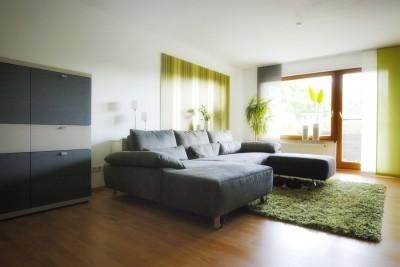 Wohnraum & Flur für Singles